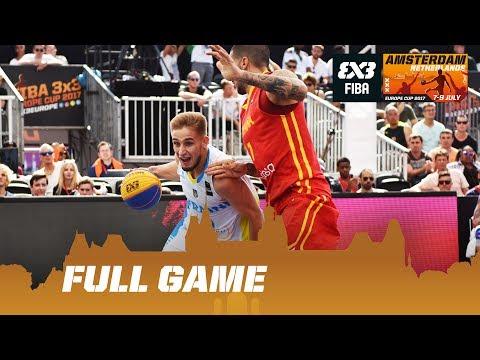 Ukraine vs Spain - Full Game - FIBA 3x3 Europe Cup 2017