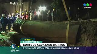 26 BARRIOS CON PROBLEMAS DE AGUA POR ROTURA DE UN CAÑO