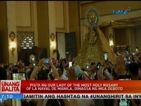 Pista ng Our Lady of the Most Holy Rosary of La Naval de Manila, dinagsa ng mga deboto