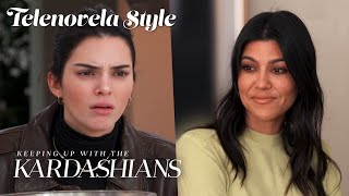 Kourtney & Kendall's Catfight Gets Physical | KUWTK Telenovelas | E!