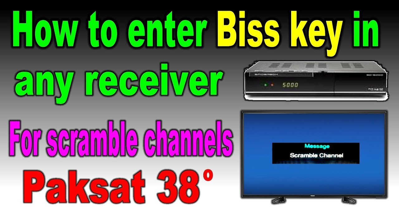 How to enter biss key in your receiver paksat 38 degree