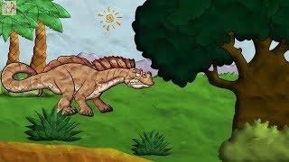 Мультики для детей Пещерный человек 6 Caveman динозавры доисторические животные смотреть онлайн.
