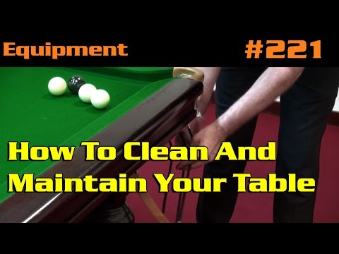 EQUIPMENT | How To Clean And Maintain Your Table
