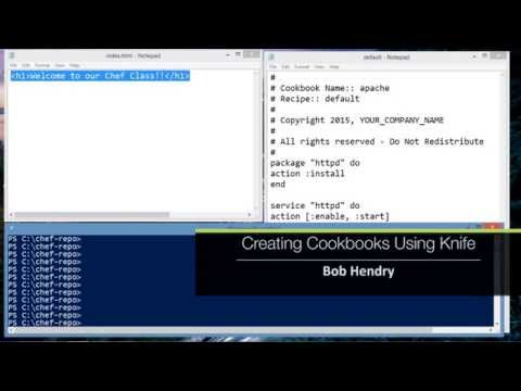 Working with Chef: Creating Cookbooks Using Knife - YouTube
