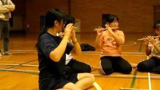 山木屋太鼓の練習風景です。