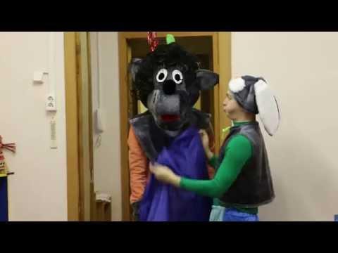 Волк и Заяц аниматор и ростовая кукла для детей
