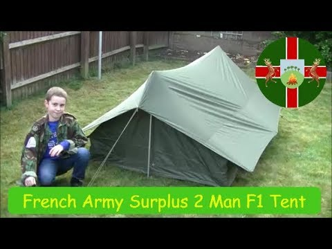 French Army Surplus F1 / Commando 2 Man Pup Tent  sc 1 st  YouTube & French Army Surplus F1 / Commando 2 Man Pup Tent - YouTube