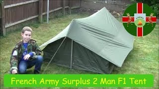 French Army Surplus F1 / Commando 2 Man Pup Tent