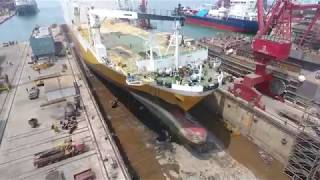 "Bulbous Bow Replacement on Grimaldi Vessel, M/V Grande Congo for ""Energy Saving"""
