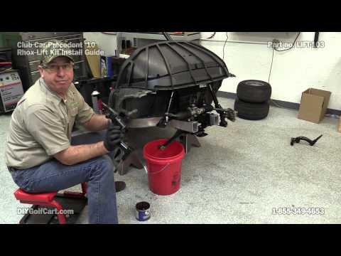 club car precedent rhox lift kit how to install on golf. Black Bedroom Furniture Sets. Home Design Ideas