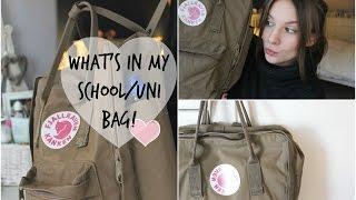 What's in my School/University Bag