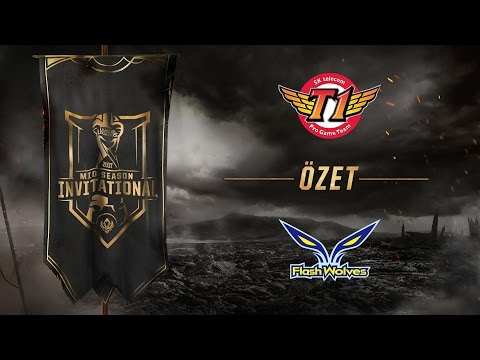 SK telecom T1 ( SKT ) vs Flash Wolves ( FW ) 1. Maç Özeti | MSI 2017 Yarı Final - Final Aşaması