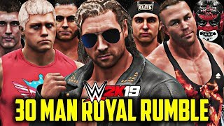 WWE 2K19 - 30 MAN ROYAL RUMBLE MATCH!! (Indy/Free Agents!)