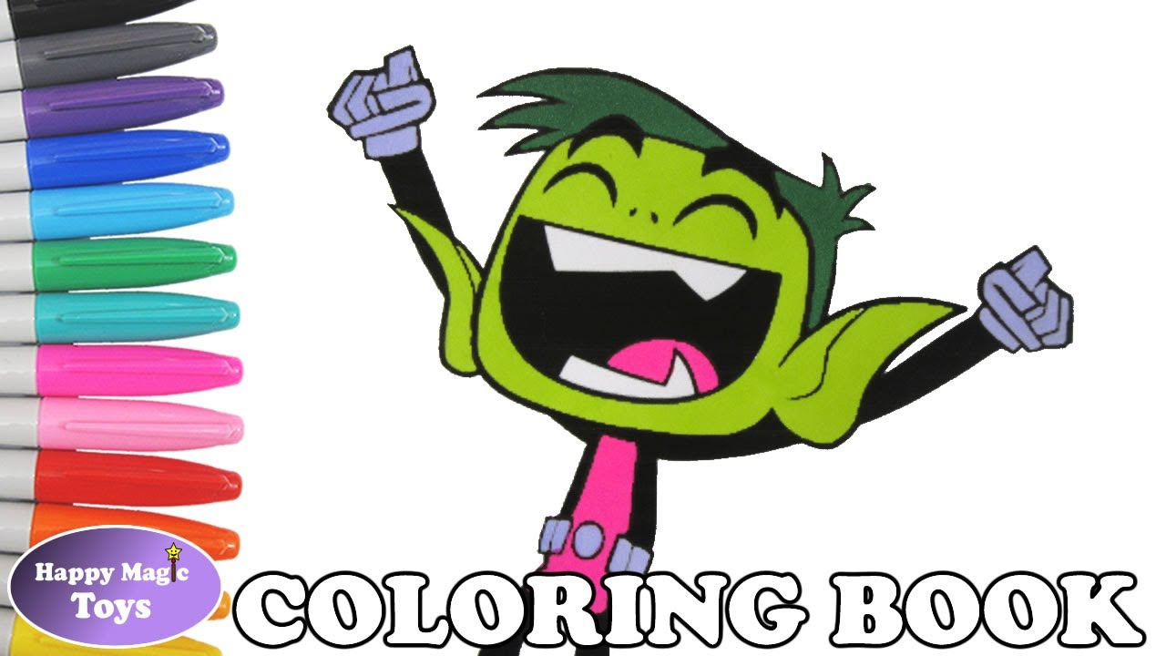 teen titans go coloring book pages beast boy colors teen titans go