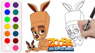 How To Draw Molly And Joel From Zooba Zooba Molly Joel Youtube