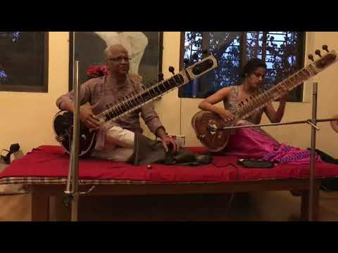Vidur Mahajan and Neha Mahajan performing Scintillating Raag Yaman on Sitar - Aalap and Jod