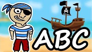 Alfabet dla dzieci ze statkiem pirackim | CzyWieszJak