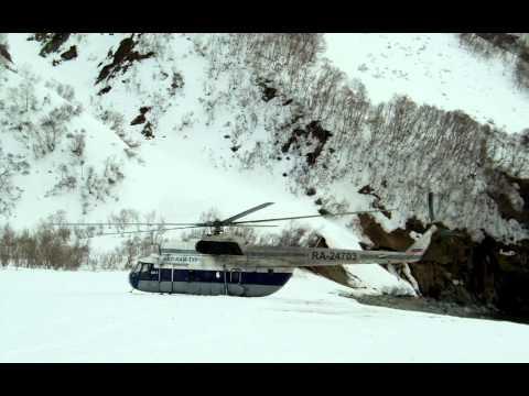HELISKI Kamchatka MI-8 Helikopter  RA-24551 вертолëт