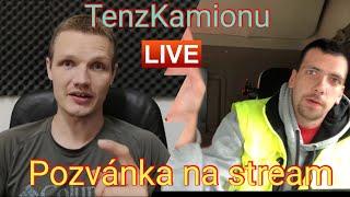 pozvánka na stream s hostem, TenzKamionu live, prshow talk #5