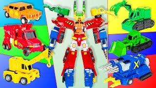 Трансформеры Карбот Самый большой Робот из мультика Привет Карбот состоящий из Шести машинок