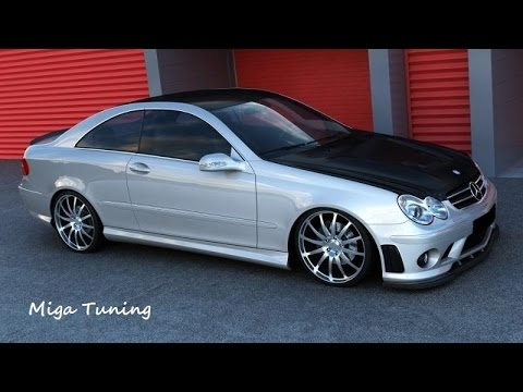 mercedes clk w209 tuning amg body kit youtube. Black Bedroom Furniture Sets. Home Design Ideas
