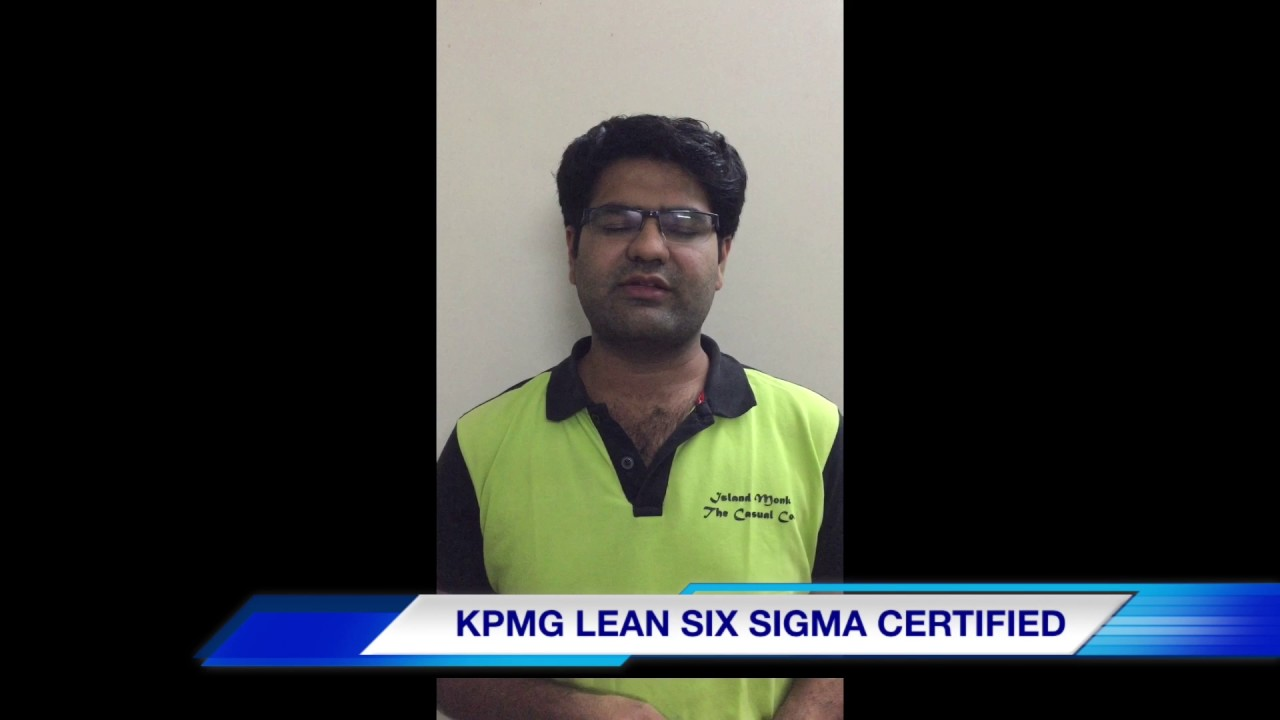 Mr Kritik Rohra Kpmg Lean Six Sigma Green Belt Certified Youtube