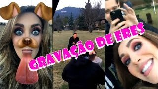 "Snap Anahí - Anahí gravando ""Eres"" com Julión Álvarez"