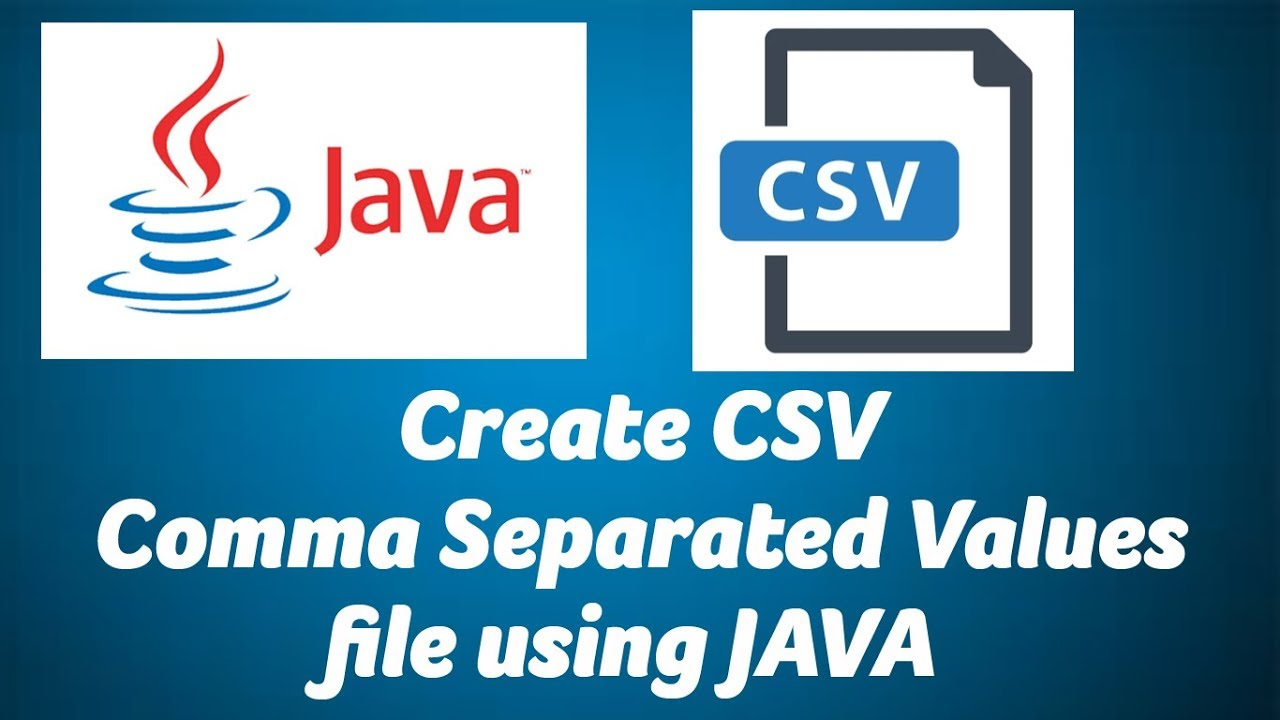 How to create CSV file using java - ChillyFacts