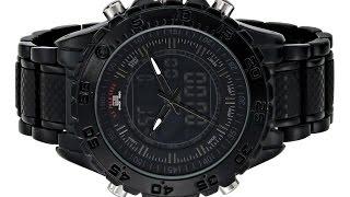 U.S Polo Sport Men's US8576 Analog Digital Display Analog Quartz Black Watch