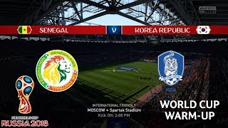 Senegal vs South Korea - World Cup 2018 Warm-Up - FIFA 18 Gameplay