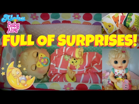 🌸 Baby Alive Real Surprises (2012) Feeding, Diaper Change & A Surprise Package Full Of Accessories!