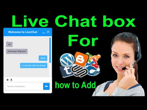 How To Add Live Chat Box On Your Blogger And Web Sites In Free