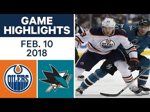 NHL Game Highlights | Oilers vs. Sharks - Feb. 10, 2018