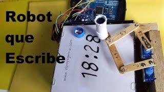 Video ✅ Robot reloj, escribe la hora (como se hace) Tutorial download MP3, 3GP, MP4, WEBM, AVI, FLV Oktober 2018