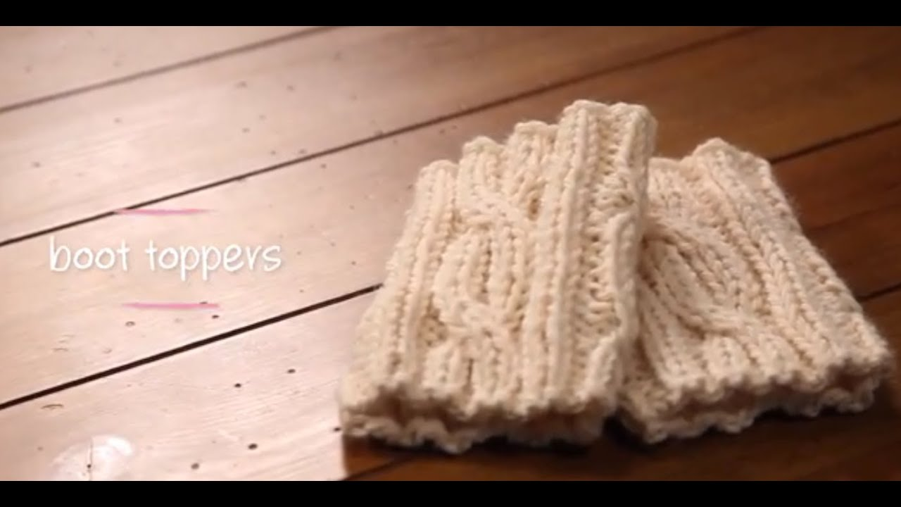 Knitted Pouffe Patterns : Knit Boot Cuffs with pattern 1 Hour Project Knitting Tutorial with Stefanie...