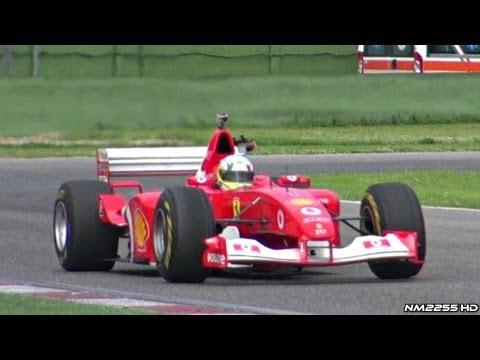 Ferrari F2002 F1 V10 PURE Sound at Imola Circuit!