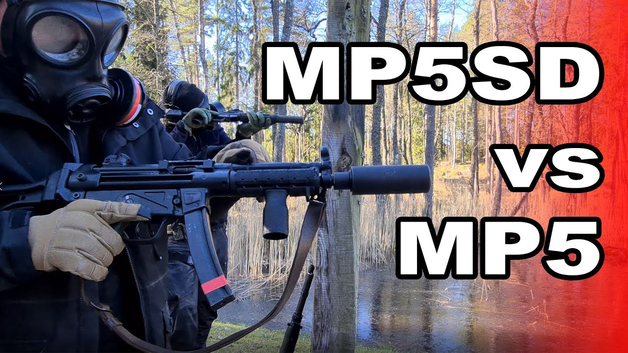 Download Suppressed MP5 vs MP5SD using regular and subsonic ammo. Which is more quiet?