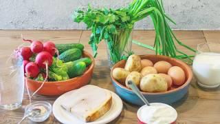Как приготовить окрошку: рецепт от SUNMAG!