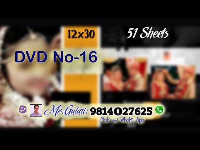 DVD 16, PSD Sheets  12x30 For Krizma Album ( 31 Sheets )