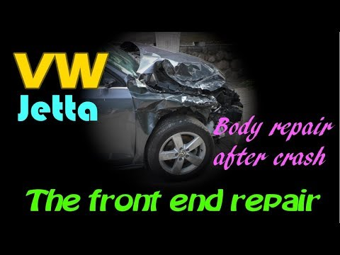 VW Jetta. The front end repair. Ремонт переда.