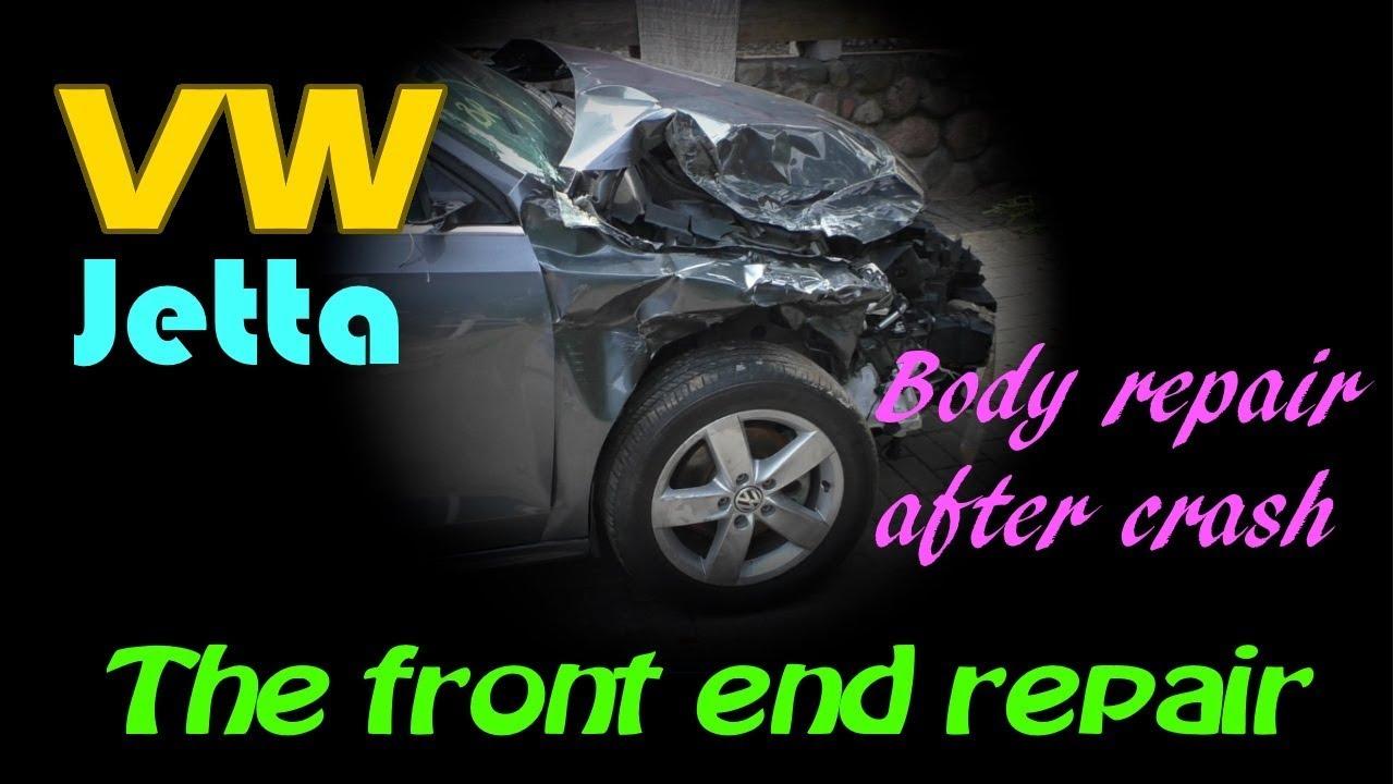 VW Jetta. The front end repair. Ремонт переда.