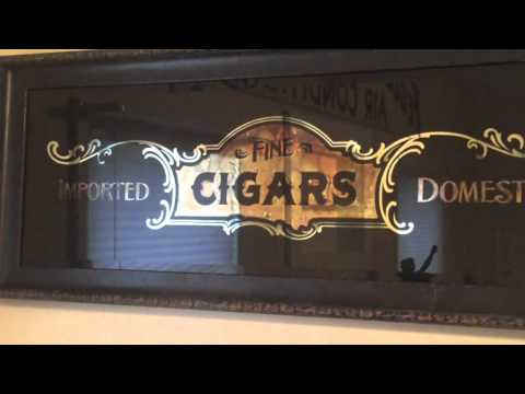 "Antique Mirror Glass - Fine Cigar Mirror ""Custom Designed"""