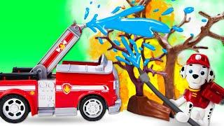 Щенячии патруль тушит пожар Видео для детей Машины сказки на ночь