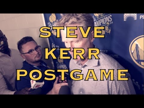 Entire KERR postgame: how Tex Winter helped him, offensive foul points of emphasis