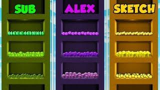 SUB vs ALEX vs SKETCH - SKYSCRAPER BASE in Minecraft! (The Pals) thumbnail