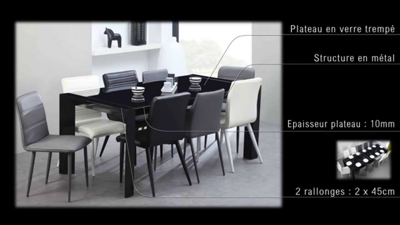 Milano table extensible youtube for Table extensible papillon