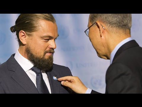 Leonardo DiCaprio meets Ban Ki-moon ahead of climate summit