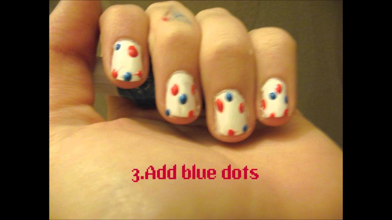 Children In Need Pudsey Bear Bandana Nail Art In 6 Easy Steps Youtube