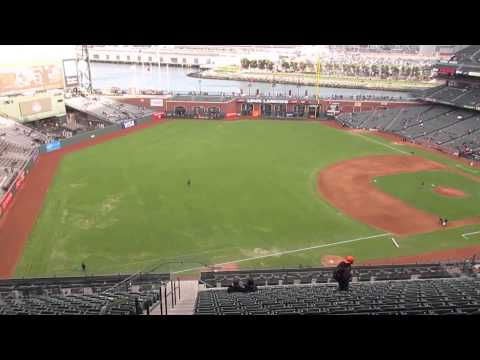 AT&T Park View from Section 328 Row 16 San Francisco Giants vs. Cincinnati Reds 2015 San Francisco