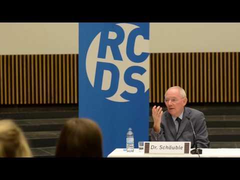 Schäuble im Audimax Freiburg 2017 02 02